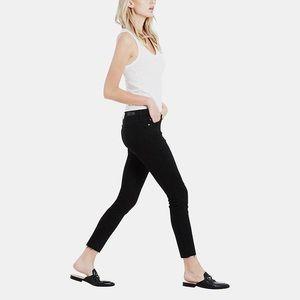 AG | The Legging Ankle Black Raw Hem Jeans